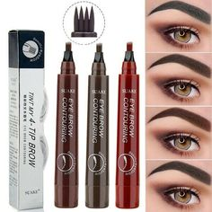 Best Eyebrow Makeup, Eye Makeup Steps, Best Eyebrow Products, Eyebrow Pencil, Best Natural Makeup, Natural Hair, Beauty Products, Eyeliner For Hooded Eyes, Eye Tricks