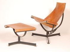 Max Gottschalk (1909-2005) Lounge and Ottoman at 1stdibs