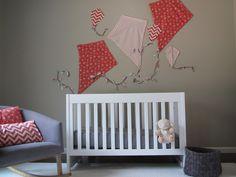 Project Nursery - Kite Themed Gray Girl Nursery Crib Shot