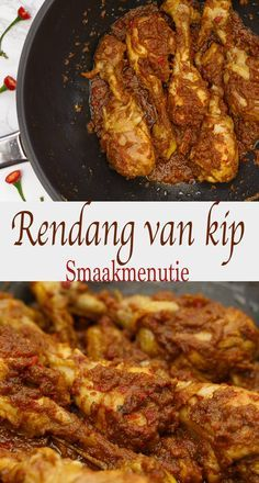 Rendang van kip Best Picture For meatless asian recipes For Your Taste You are looking for something, and it is going to tell you exactly what you are looking for Vegetarian Recipes Easy, Lunch Recipes, Asian Recipes, Healthy Recipes, Ethnic Recipes, Good Food, Yummy Food, Healthy Slow Cooker, Comfort Food