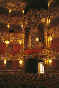 * Cuvillies Theater in The Residenz Palace in Munich, Germany