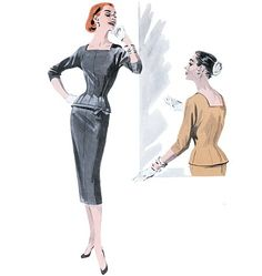 50s Inspired Misses Sexy Wiggle Dress