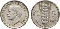 NumisBids: Nomisma Spa Auction 51, Lot 2559 : Vittorio Emanuele III (1900-1946) 5 Centesimi 1919 Progetto bordo...