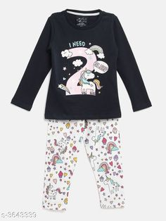 Nightsuits Fancy Cotton Blend Night Suits Fabric: Cotton Blend Sleeves: Full Sleeves Are Included Size: Age Group (1 - 2 Years) - 18 in Age Group (2 - 3 Years) - 20 in Age Group (3 - 4 Years) - 22 in Age Group (4 - 5 Years) - 24 in Age Group (5 - 6 Years) - 26 in Age Group (6 - 7 Years) - 28 in Age Group (7 - 8 Years) - 30 in Type: Stitched Description: It Has 1 Piece Of Girl's Top & 1 Piece Of Pant Work / Pattern: Top - Printed Bottom - Printed Country of Origin: India Sizes Available: 2-3 Years, 3-4 Years, 4-5 Years, 5-6 Years, 6-7 Years, 7-8 Years, 1-2 Years   Catalog Rating: ★4.3 (450)  Catalog Name: Girl's Fancy Cotton Blend Night Suits Vol 1 CatalogID_507996 C62-SC1158 Code: 903-3643339-447