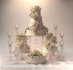 Fountain Wedding Cakes | Tier Grand Cascade / Fountain Wedding Cake Stand