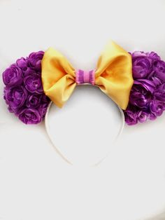 Princess Mouse Ears, Tower Princess Floral Ears, Custom Mouse Ears, Tangled Floral Ears, Tangled by ExtraMagicHours on Etsy https://www.etsy.com/listing/252246895/princess-mouse-ears-tower-princess