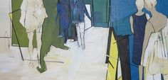 The Mall - 2015 Acrylic, charcoal and ink on stretched canvas 800 x 1700 AVAILABLE