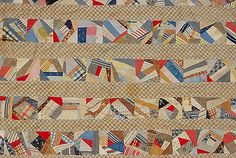 Antique Semi Crazy Quilt – Hand Stitched – One More From the Blanket Box, eBay, antiquestm