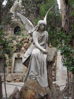 Modernismo en  Barcelona Cementiri de Montjuic  Catalonia