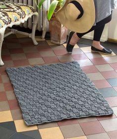 basketweave #crochet rug free pattern
