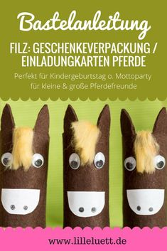 Gift wrapping / invitation cards Making your own horses - Inexpensive Birthday Gifts, Creative Birthday Gifts, Birthday Invitations Kids, Fun Wedding Invitations, Birthday Gifts For Girls, Mom Birthday Gift, Invitation Cards, Animal Crafts For Kids, Diy For Kids