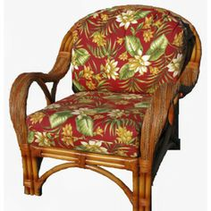 This looks comfy! Spice Islands Wicker Caneel Bay Arm Chair
