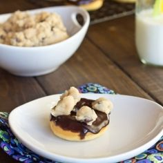 Cookie Dough Mini Donuts by DinnersDishes.  Really?!