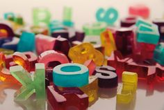 gelatin letters.
