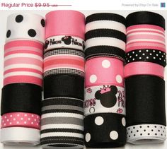 20 OFF SALE 20 Yd Minnie Mouse Princess by HairbowSuppliesEtc, $7.96