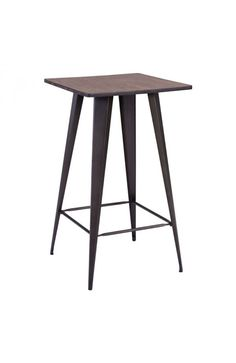 If we are going to use wooden tops recommended dinner and more modern base to keep from looking to rustic and stay more on the modern side.
