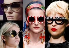 www.HerCity.ca This season trends: big, bold and statement-making eyewear. Large frames with reflective lenses. Have fun with them and send us some pictures! Inspirations: Prada, Missoni or Cavalli