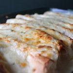 Chicken Enchiladas with Sour Cream White Sauce