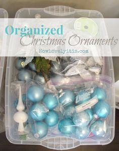 Christmas decoration storage tips pinterest storage decoration organized christmas ornaments organized christmasdiy christmas ornament storageholiday solutioingenieria Choice Image