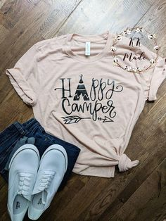 89f7ffd41 Funny camping shirt, happy camper shirt, unisex camping shirt, happy camper  shirt for women, mom camping shirt, happy glamping shirt