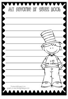 Dr. Seuss printable writing sheet