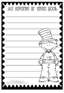 Dr. Seuss printable writing sheet