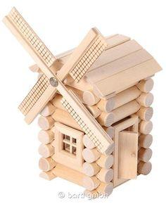 Bartl, Construction Set 47 Teile, Bastelset Windmühle mit Bauanleitung für Kinder | 111297