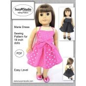 Marie Dress Sewing Pattern for 18 inch dolls