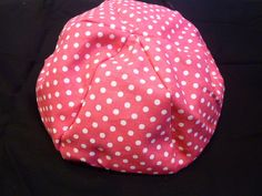 American Girl Doll Bean Bag Chair - Candy Pink with White Polka Dots - 18 inch doll, Pink, Hot Pink