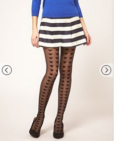 Such cute heart patterned tights