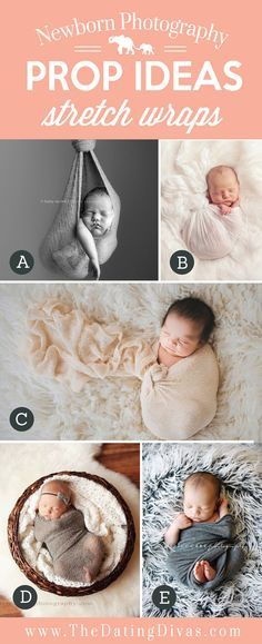 Adorable-Newborn-Photography-Prop-Ideas-using-Stretch-Wraps.jpg 550×1,350 pixels