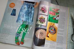 Zelfmaakproductie van vormgever Reija Kiiski - diy article in Kodin Kuvalehti magazine, with my legs ;-D Voss Bottle, Water Bottle, Cool Diy, Diys, Cool Stuff, Cool Crafts, Bricolage, Water Flask, Water Bottles