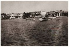 Ρόδος Μανδράκι. Άποψη του Λιμανιού με Υδροπλάνο 1930 .. 1930, Rhodes, Greece, The Past, Island, Greece Country, Islands