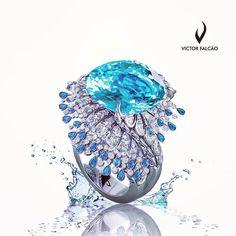 Victor Falcao Design  Victor Falcao Designer paraiba, tourmaline and diamond ring.  #desing   #jewelleryâ €¦