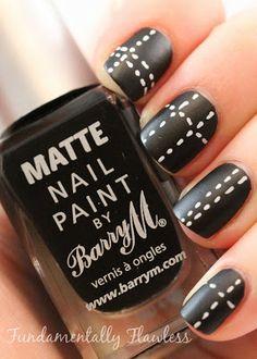 Fundamentally Flawless: Barry M Matte Black nail polish