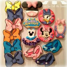 Minnie and Daisy Duck Cookies