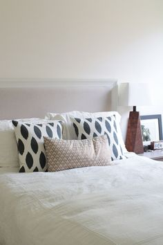 Decorating as a Couple in NYC – Design*Sponge Dream Bedroom, Home Decor Bedroom, White Bedroom, Master Bedroom, Luxury Bedding Sets, Guest Bedrooms, Bed Pillows, Bed Linens, Cushions