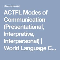 13 Best ACTFL standards images in 2018 | Spanish class