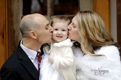 Smooches for this little cutie from mom & dad. We love the kiddos coming to the little log wedding chapel!
