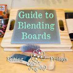 A Guide to Blending Boards - Felting Fridays — Star Magnolias Needle Felting Tools, Spinning Yarn, Felting Tutorials, Yarn Projects, Sheep Wool, Fabric Art, Wool Felt, Color Mixing, The Help