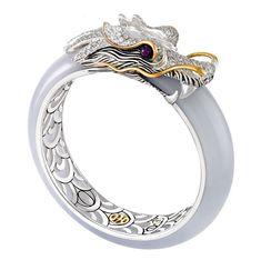 John Hardy one of a kind jade Naga ring