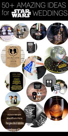 Awesome Star Wars Wedding Ideas | http://emmalinebride.com/themes/geeky-star-wars-ideas-weddings/
