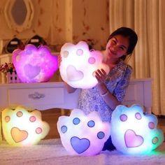 5 color kawaii colorful luminous pillow music bear / doll pillow SE4825