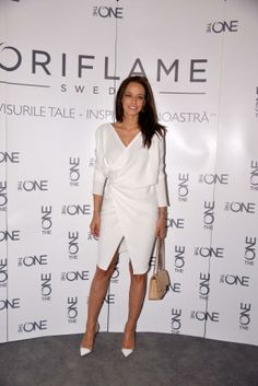 Andreea Raicu wearing Rhea Costa dress!