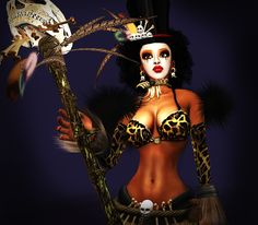 ATOI-VooDoo Queen Outfit w/Tattoo & Skin..Perfect For HALLOWEEN COSTUME!!!