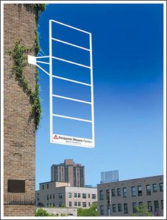 Banjamin Moore Paints guerrilla marketing ad. Awesome use of demonstrating real color!