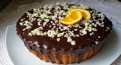 Bizcocho de naranja y chocolate muy espnjoso