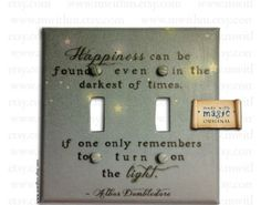 On a light switch, brilliant! (lol, I love puns!)