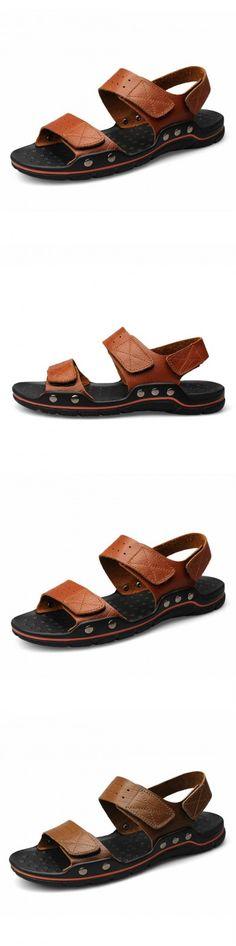 f353c6f4c2f0 Gold Flip Flops Gals Men s Summer The New Genuine Leather Sandals