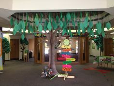 The welcome tree! It have all the names of the kids that  are on our VBS